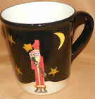 Black CERTIFIED INTERNATIONAL CIC Midnight SANTA CLAUS Barton CHRISTMAS Mug