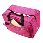 Dtemple Floral Sewing Machine Tote Waterproof Carrying Bag with Pockets and H...