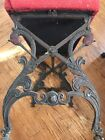 Ornate Antique Serpent Cast Iron Stool Bench