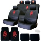 For Jeep New Embroidery Dragon Car Seat Covers Headrest Covers and Mats Set