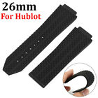 26mm Black Silicone Rubber Watchband Strap Band for Hublot Big Bang Strap NEW