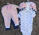 Cat  Jack 3 6 M Baby Girl Lot Of 3 Pants 5 Onsies Nwt