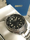 New! Seiko SUN019 Prospex Kinetic Black Dial GMT Diver Watch! Complete Package!
