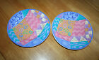 Salad Plates Sango Potpourri Mix & Match Candy Mountain, Sue Zipkin (Lot of 2)