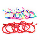 5pcs Double Layer Red Rainbow String Handmade Braided Rope Men Women