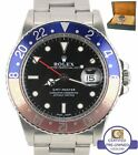 1986 Rolex GMT-Master Pepsi Blue Red FADED Stainless 16750 40mm Date Watch 16710