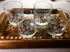 Vintage Couroc Bourbon Whiskey Glasses Retro COOL Perfect Bar Addition