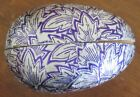 Vintage Paper Mache Foil Covered Germany Easter Egg Candy Container