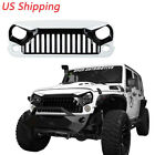 White Paint Angry Bird Front Grill Grille For Jeep Wrangler 07 18 JK