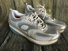 Womens Sketchers Shape up Shoes Walking Fitness White Gray Silver Sz 10