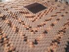 Hand Crochet Afghan Multi Color Earth Tone Brown Beige Throw Square 49 x 52