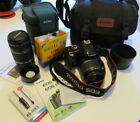 Canon EOS Digital Rebel XSi DSLR Camera bundle with additional lenses cases