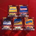 Hot Wheels Pop Culture Nestle Movie Snack Candy Cars Complete Set Of 5 2017