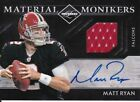 Matt Ryan, 2011 Panini Material Monikers, PATCH!!!, AUTOGRAPH!!!, #'d 9 20