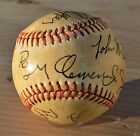 1986 Boston Red Sox Team Signed Baseball-11 Hand Signed Autographs-CLEMENS RICE