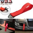 JDM Red Racing Sports Tow Towing Strap Hook For Front Rear Bumper High Strength
