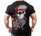 Monsta Clothing Fitness Gym T-shirt - Beard Skull