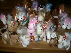 W-F-L Ty Beanie Babies Horse Unicorn 15 Bis 7 7/8in Selection Stuffed Toy