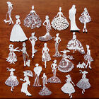 Elegant Ladies Vintage Fashion Lady Woman Tattered Lace +CARD TOPPER die cut out