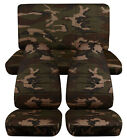1976-2017 Jeep Wrangler Camo Seat Covers Canvas Front Rear Choose Color