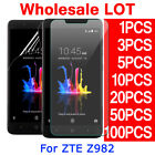 Tempered Glass PET Screen Protector For ZTE Blade Z Max Z982 ZMax Pro 2 Lot