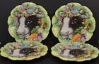 Lot of 4 Fitz and Floyd Classics Country Chic Ceramic Cow Plates