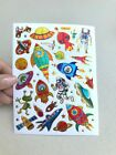 Space Set Holographic Heart Stickers Scrapbook Kid projects Sealing