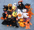 W F L Ty Beanies International Skeleton Shaped Halloween Treat Pail Selection