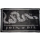 Black Join or Die Benjamin Franklin Tea Party Flag 3x5 House Banner US SELLER