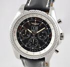 New Breitling Bentley 6.75 Speed Chronograph Steel 49mm Black Strap A44364