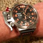 Ingersoll Bison #33 Orange/Black Day/Date GMT Automatic Watch on Leather Strap