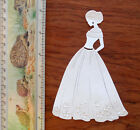 Tattered Lace + Lady Woman Card Topper Die Cut Out Elegant Wedding Ball Gown