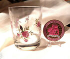 BREAST CANCER AWARENESS CHALLENGE COIN 175  VINTAGE AVON GLASS CANDLE HOLDER