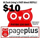 Page Plus 10 Refill DIRECT ELECTRONIC FAST to PHONE TRUSTED 25yr USA SELLER