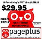 Page Plus 2995 PREPAID DIRECT ELECTRONIC REFILL  GET IT TODAY US DEALER