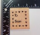 JRL Design To From Hearts Dots Frame Rubber Stamp