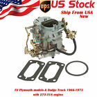 Top 273 318 ENGINE Carburetor Replacement For Dodge Plymouth C2 BBD 1966 1973 US