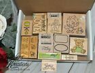 BABY THEMED Wood Mount RUBBER STAMP LOT OF 20 New  Used
