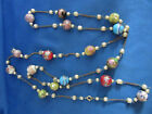 Vintage High Quality Italian art glass Beaded  Pearl necklace 54