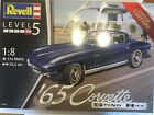 New Revell 1/8 Scale 1965 Corvette Coupe Limited Edition Plastic Model Kit