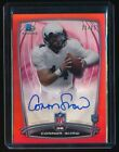 CONNOR SHAW 2014 BOWMAN CHROME RC AUTO COLLEGE RED REFRACTOR 21 25 *BROWNS*