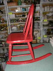 Vintage Painted Shiny Red Childs Rocking Chair 22 Tall