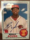 2017 Topps Heritage Minor League Ronald Acuna Blue Parallel Auto 75 RC ROY?