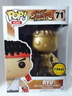 Rare!!! Funko Pop Gold Ryu (CHASE) # 71 Street Fighter (Protector)