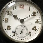 1914 Working Silver Zenith Fontainemelon WW1 Army Officers Trench Watch Manual