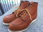 RED WING 875 Sz 11D 6 Inch ORO Legacy Leather CLASSIC MOC BOOT Made in USA Lknw