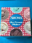 AROMA ICE CREAM MAKER ELECTRIC WOODEN BUCKET 4 QT New