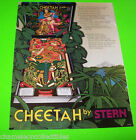 CHEETAH By STERN 1980 ORIGINAL PINBALL Machine Flipper Game PROMO SALES FLYER