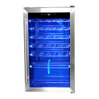 Smad 35 Bottle Compressor Drinks Wine Cooler,Stainless Steel Beer Wine Fridge