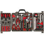 71Pc Home Hand Tool Set Kit Household Tools Mechanics Remover Repair Case Red